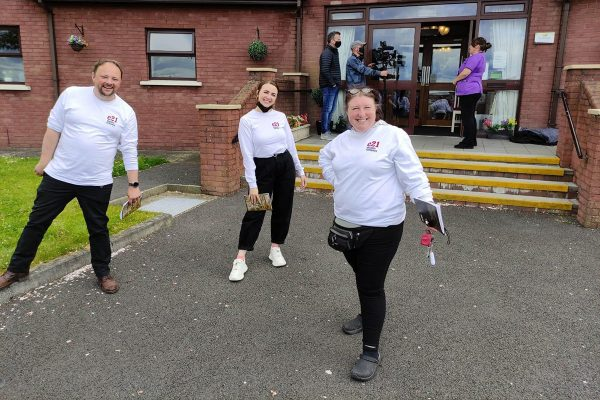 Rockfield Care Home, Newry Actors (from left) Eoghan Lamb, Debra Hill, Christina Nelson.